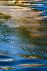 Abstract of flowing water in Trinity River at McCommas Bluff, Great Trinity Forest, Dallas, Texas, USA