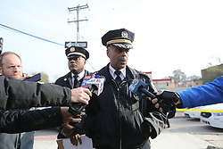 November 19, 2018 - USA - Philadelphia police commissioner Richard Ross outside row house on 5100 block of Malcolm in West Philadelphia site of a multiple homicide on Monday afternoon, Nov. 19, 2018. (Credit Image: © David Swanson/The Philadelphia Inquirer/TNS via ZUMA Wire)