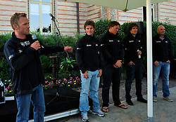 Jesper Radich introduces his team at the opening ceremony. Photo: Chris Davies/WMRT