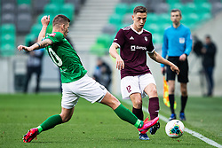 Roman Bezjak of NK Olimpija and Erik Gliha of NK Triglav during football match between NK Olimpija Ljubljana and NK Triglav Kranj in Round #22 of Prva liga Telekom Slovenije 2019/20, 25 February, 2020 in Stadium Stozice, Ljubljana, Slovenia. Photo By Grega Valancic / Sportida
