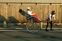 Rickshaws have made a big comeback in Japan, especially around traditional places such as Kyoto, though their use is more a photo opportunity than for real transportation.  Usually the ride consists of a quick, token 15 minute tour with an all-important photo opportunity at the end.