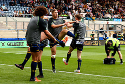 Worcester Warriors warm up ahead of their first game in the knockout stages of the Singha Premiership Rugby 7s - Mandatory by-line: Robbie Stephenson/JMP - 29/07/2017 - RUGBY - Franklin's Gardens - Northampton, England - Worcester Warriors v Newcastle Falcons - Singha Premiership Rugby 7s