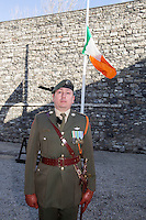 Cpt Glenn Harmon at Kilmainham Gaol, where 14 of the leaders of the Rising were executed.<br />Pic:Mark Condren<br />27.3.2016
