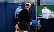 Bianca Andreescu of Canada in action against Christina McHale of the United States during her first round match at the 2021 Viking International WTA 500 tennis tournament on June 22, 2021 at Devonshire Park Tennis in Eastbourne, England - Photo Rob Prange / Spain ProSportsImages / DPPI / ProSportsImages / DPPI