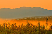 Sunrise  and mountains. Haines Road. <br />Haines Junction<br />Yukon<br />Canada