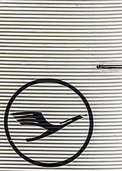 THEMENBILD - das Logo der deutschen Fluglinie Lufthansa auf dem Seitenruder einer Junkers Ju 52, aufgenommen am 13. April 2017, Flughafen München, Deutschland // the logo of the German airline Lufthansa on the rudder of a Junkers Ju 52 at the Munich Airport, Germany on 2017/04/13. EXPA Pictures © 2017, PhotoCredit: EXPA/ JFK