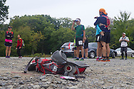 Cragsmoor, New York - Runners gather at Sam's Point Preserve before competing in the Shawangunk Ridge Trail Run/Hike 32-mile race on Sept. 20, 2014.