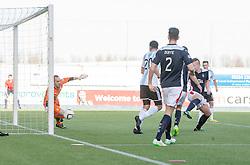 Hearts Genero Zeefuik second goal.<br /> Falkirk 0 v 3 Hearts, Scottish Championship game played 21/3/2015 at The Falkirk Stadium.
