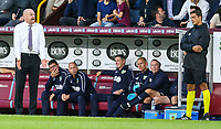 Burnley manager Sean Dyche shouts instructions to his team from the technical area<br /> <br /> Photographer Alex Dodd/CameraSport<br /> <br /> UEFA Europa League - Europa League Qualifying Round 2 2nd Leg - Burnley v Aberdeen - Thursday 2nd August 2018 - Turf Moor - Burnley<br />  <br /> World Copyright © 2018 CameraSport. All rights reserved. 43 Linden Ave. Countesthorpe. Leicester. England. LE8 5PG - Tel: +44 (0) 116 277 4147 - admin@camerasport.com - www.camerasport.com
