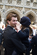 RODOLPH VON HOFMANNSTHAL,DOLORES,, Service of thanksgiving for  Lord Snowdon, St. Margaret's Westminster. London. 7 April 2017