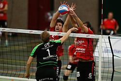 20161029 NED: Eredivisie, Vallei Volleybal Prins - Advisie SSS: Ede<br />Chris Ogink, Peter Ogink, of Vallei Volleybal Prins <br />©2016-FotoHoogendoorn.nl / Pim Waslander
