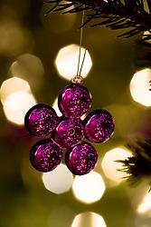 Purple flower Christmas decoration