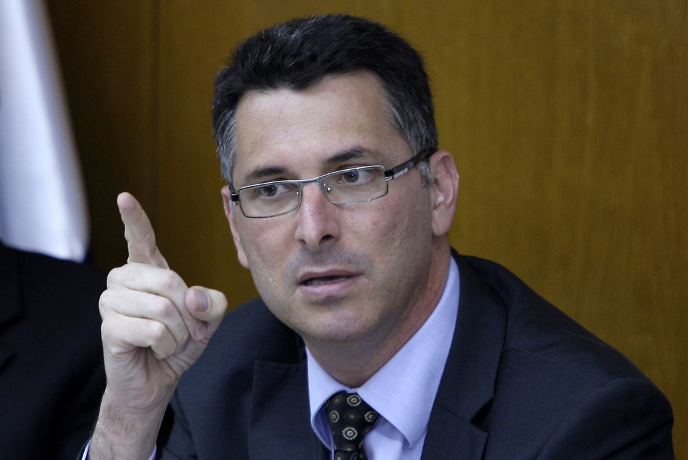 Minister of Education Gideon Sa'ar attends a session of the Education Committee at the Knesset, Israel's parliament in Jerusalem, on May 11, 2009.