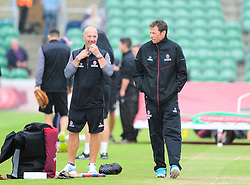 Matthew Maynard and Marcus Trescothick of Somerset looks on.  - Mandatory by-line: Alex Davidson/JMP - 15/07/2016 - CRICKET - Cooper Associates County Ground - Taunton, United Kingdom - Somerset v Middlesex - NatWest T20 Blast