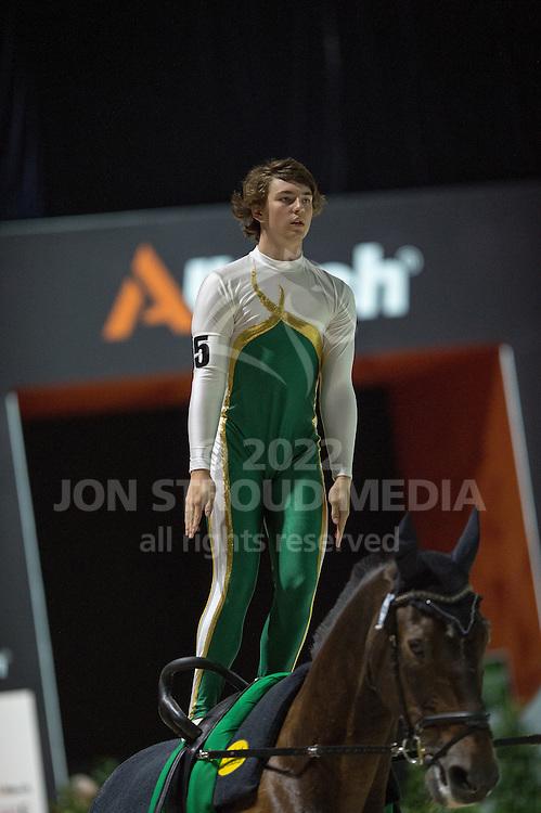Zac Singlehurst, (AUS), Polan 2, Claudia Westerheide - Individuals Men Compulsory Vaulting - Alltech FEI World Equestrian Games™ 2014 - Normandy, France.<br /> © Hippo Foto Team - Jon Stroud<br /> 02/09/2014