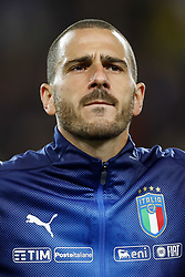 October 6, 2017 - Turin, Italy - Leonardo Bonucci of Italy national team looks on during the 2018 FIFA World Cup Russia qualifier Group G football match between Italy and FYR Macedonia at Stadio Olimpico on October 6, 2017 in Turin, Italy. (Credit Image: © Mike Kireev/NurPhoto via ZUMA Press)