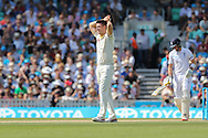Mitchell Marsh of Australia during the third day of the 5th Investec Ashes Test match between England and Australia at The Oval, London, United Kingdom on 22 August 2015. Photo by Ellie Hoad.