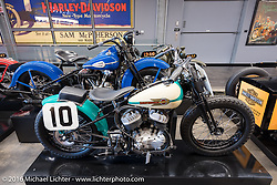 1946 Harley-Davidson WR flathead racer on display at the Harley-Davidson Museum during the Milwaukee Rally. Milwaukee, WI, USA. Saturday, September 3, 2016. Photography ©2016 Michael Lichter.