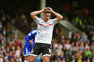 Fulham FC midfielder Tom Cairney (10) misses a last minute chance during the EFL Sky Bet Championship match between Fulham and Cardiff City at Craven Cottage, London, England on 20 August 2016. Photo by Jon Bromley.