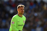 Cardiff city goalkeeper David Marshall looks on. Skybet football league championship, Cardiff city v Millwall at the Cardiff city stadium in Cardiff, South Wales on Saturday 18th April 2015<br /> pic by Andrew Orchard, Andrew Orchard sports photography.