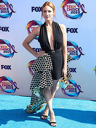 HERMOSA BEACH, LOS ANGELES, CALIFORNIA, USA - AUGUST 11: FOX's Teen Choice Awards 2019 held at the Hermosa Beach Pier Plaza on August 11, 2019 in Hermosa Beach, Los Angeles, California, United States. 11 Aug 2019 Pictured: Brittany Snow. Photo credit: Xavier Collin/Image Press Agency/MEGA TheMegaAgency.com +1 888 505 6342