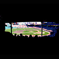 Classic obstructed view to the field in Fenway Park, Boston