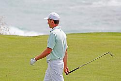June 11, 2019 - Pebble Beach, CA, U.S. - PEBBLE BEACH, CA - JUNE 11: PGA golfer Jordan Spieth plays the 9th hole during a practice round for the 2019 US Open on June 11, 2019, at Pebble Beach Golf Links in Pebble Beach, CA. (Photo by Brian Spurlock/Icon Sportswire) (Credit Image: © Brian Spurlock/Icon SMI via ZUMA Press)