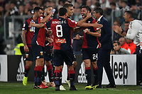 Daniel Bessa of Genoa celebrates with team mates after scoring a goal during the Serie A 2018/2019 football match between Juventus and Genoa CFC at Allianz Stadium, Turin, October, 20, 2018 <br />  Foto Andrea Staccioli / Insidefoto