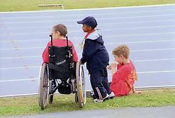 Spectators at Mini games sports event held at Stoke Mandeville Stadium,