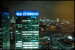 General view of London's financial district in Canary Wharf  , Tuesday December 12, 2011. Photo By Andrew Parsons/ i-Images