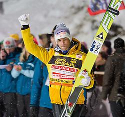 30.12.2011, Schattenbergschanze / Erdinger Arena, GER, Vierschanzentournee, FIS Weldcup, Ski Springen, im Bild Andreas Kofler (AUT, 2. Platz) // Andreas Kofler of Austria  second place, during of FIS World Cup Ski Jumping in Oberstdorf, Germany on 2011/12/30. EXPA Pictures © 2011, PhotoCredit: EXPA/ P.Rinderer