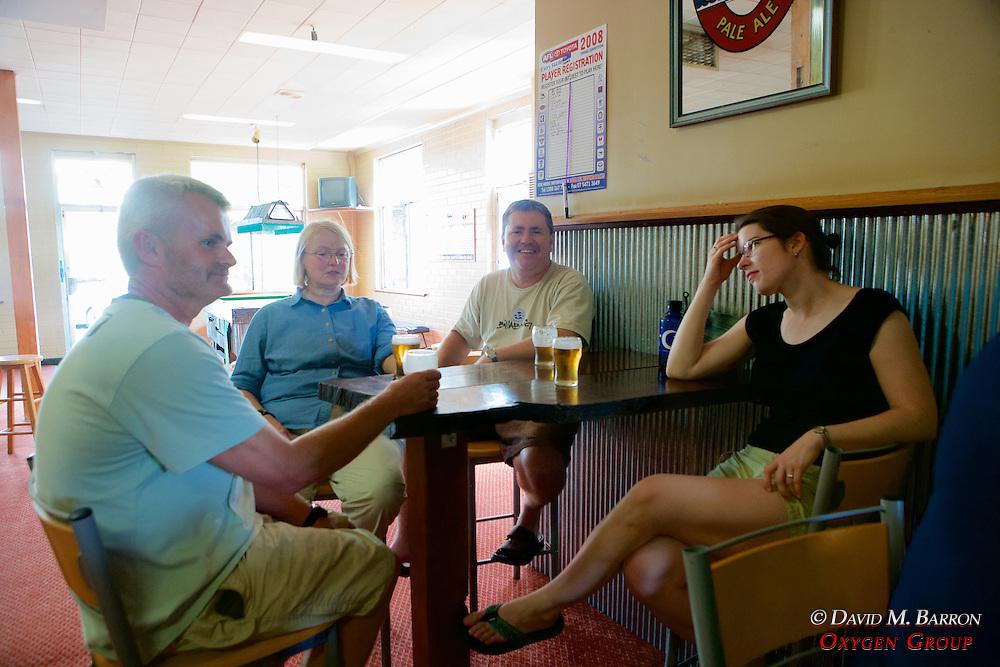 Hugh, Pat, Kevin & Sarah Enjoying The Local Refreshments