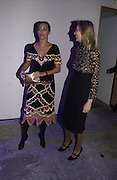 Yasmin le Bon and Allegra Hicks, The Almeida Theatre Charity Christmas Gala, to raise funds for the theatre, at the Victoria Miro Gallery, London.  1 December  2005. ONE TIME USE ONLY - DO NOT ARCHIVE  © Copyright Photograph by Dafydd Jones 66 Stockwell Park Rd. London SW9 0DA Tel 020 7733 0108 www.dafjones.com