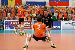 20170525 NED: 2018 FIVB Volleyball World Championship qualification, Koog aan de Zaan<br />Team The Netherlands wins set 2, Dirk Sparidans (3) of The Netherlands <br />©2017-FotoHoogendoorn.nl / Pim Waslander