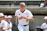 WINSTON-SALEM, NC - JUNE 02: Maryland's Tyler Blohm. The West Virginia University Mountaineers played the University of Maryland Terrapins on June 2, 2017, at David F. Couch Ballpark in Winston-Salem, NC in NCAA Division I College Baseball Tournament Winston-Salem Regional Game 1. West Virginia won the game 9-1.