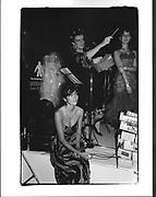 Ghislaine Maxwell, Alex Blaker, Julia Verdin, Boisdale Ball. London Dungeons. 1986.
