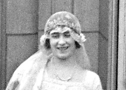 File photo dated 26/04/1923 of Lady Elizabeth Bowes-Lyon (later to be Queen Elizabeth, the Queen Mother) wearing the Strathmore Rose Tiara after her wedding ceremony at Westminster Abbey, London. Princess Eugenie may follow in the footsteps of her mother, Sarah Ferguson, Duchess of York and wear the York diamond tiara on her wedding day.