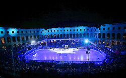16.09.2012, Amphitheater, Pula, CRO, EBEL, Ice Fever, KHL Medvescak Zagreb vs UPC Vienna Capitals, 04. Runde, im Bild Uebersicht der Arena // during the Erste Bank Icehockey League 04th Round match betweeen KHL Medvescak Zagreb and UPC Vienna Capitals at the Amphitheater, Pula, Croatia on 2012/09/16. EXPA Pictures © 2012, PhotoCredit: EXPA/ Pixsell/ ATTENTION - OUT OF CRO, SRB, MAZ, BIH and POL *****