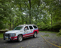 Front yard after Tropical Storm Isaias. Montgomery Township Volunteer Fire Company, District 1, Car 46. Image taken with a Leica CL camera and 18 mm f/2.8 lens