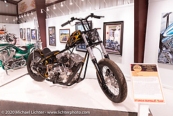 Atomic Trent Schara's Death Dealer Evo custom in the Heavy Mettle - Motorcycles and Art with Moxie exhibition at the Sturgis Buffalo Chip. This is the 2020 iteration of the annual Motorcycles as Art series curated and produced by Michael Lichter. Sturgis, SD, USA. Friday, August 7, 2020. Photography ©2020 Michael Lichter.