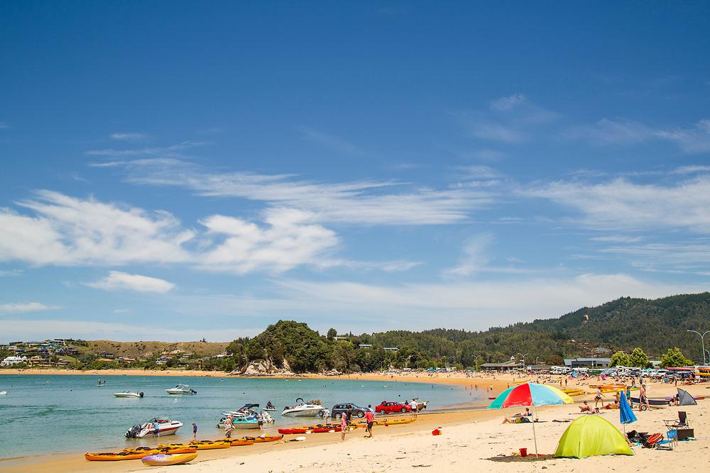 Summers day at Kaiteriteri Beach, Nelson, South Island New Zealand