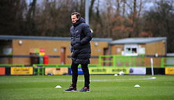 Forest Green Rovers manager Mark Cooper watches his side warm up prior to kick-off- Mandatory by-line: Nizaam Jones/JMP - 16/01/2021 - FOOTBALL - innocent New Lawn Stadium - Nailsworth, England - Forest Green Rovers v Port Vale - Sky Bet League Two
