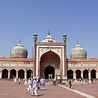 Asia, India, New Delhi. The Jama Masjid Mosque in Old Delhi.