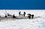 Africa, Tanzania, Lake Eyasi National Park Fishing in the lake