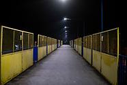 Nocny wyludniony Białystok podczas epidemii koronawirusa