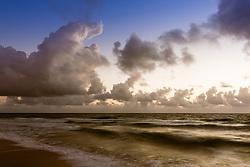 spectacular sunrise through the clouds over The Atlantic Ocean in Fort Lauderdale, Florida