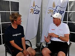 Peter Gilmour talking with Niklas Areschoug. Photo: Chris Davies/WMRT