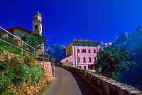 Village in the Swiss Alps, Soglio, Switzerland