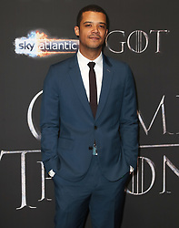 Jacob Anderson attending the Game of Thrones Premiere, held at Waterfront Hall, Belfast.