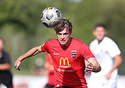 Edward Willkinson of Canterbury United.<br /> ISPS Handa Men's Premiership football match between Canterbury United and Auckland City at English Park in Christchurch on Sunday 13 December 2020. © Copyright image by Martin Hunter / www.photosport.nz